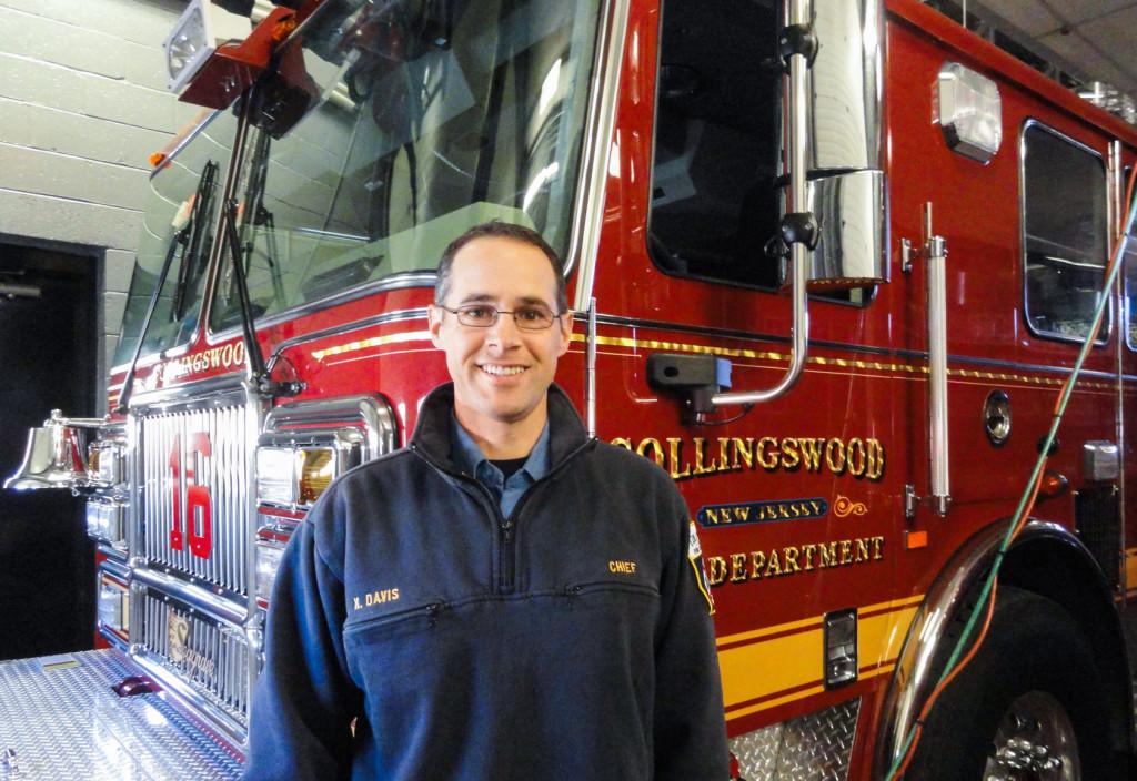 Collingswood Fire Chief Keith Davis. Credit: Matt Skoufalos.