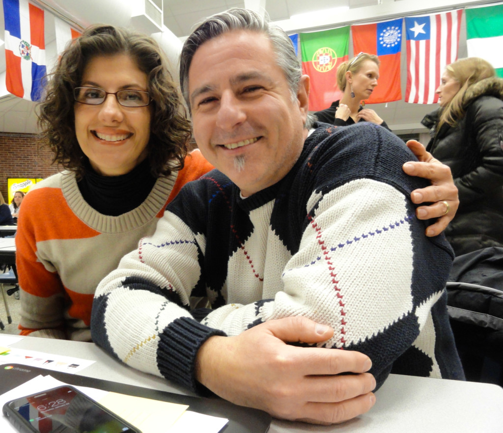 Collingswood parents Jen Perez and Pasquale Guglietta. Credit: Matt Skoufalos.