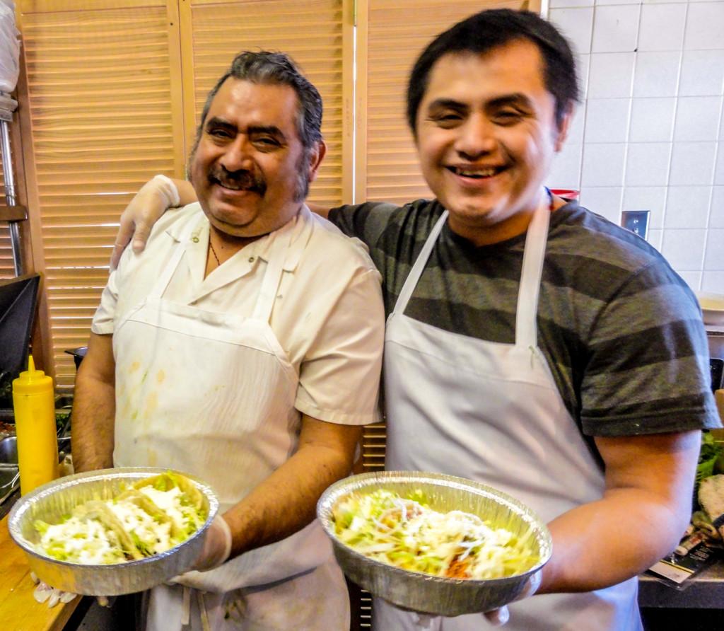 Rogelio Garcia (left) and his son, Alberto. Credit: Matt Skoufalos.