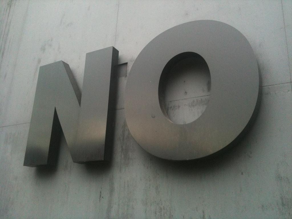 No. Credit: Sboneham. http://goo.gl/SDe3WF