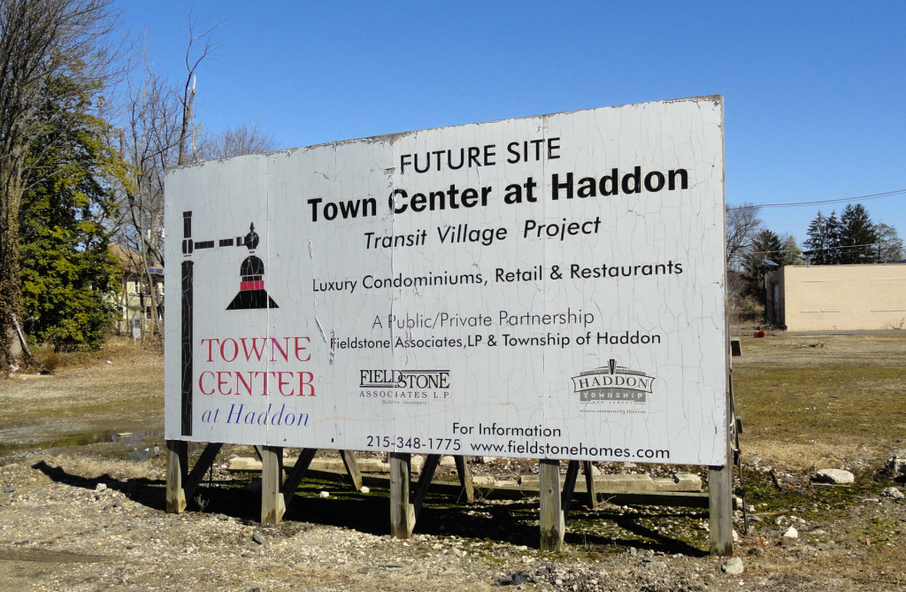 The site of the Haddon Town Center redevelopment. Credit: Matt Skoufalos.