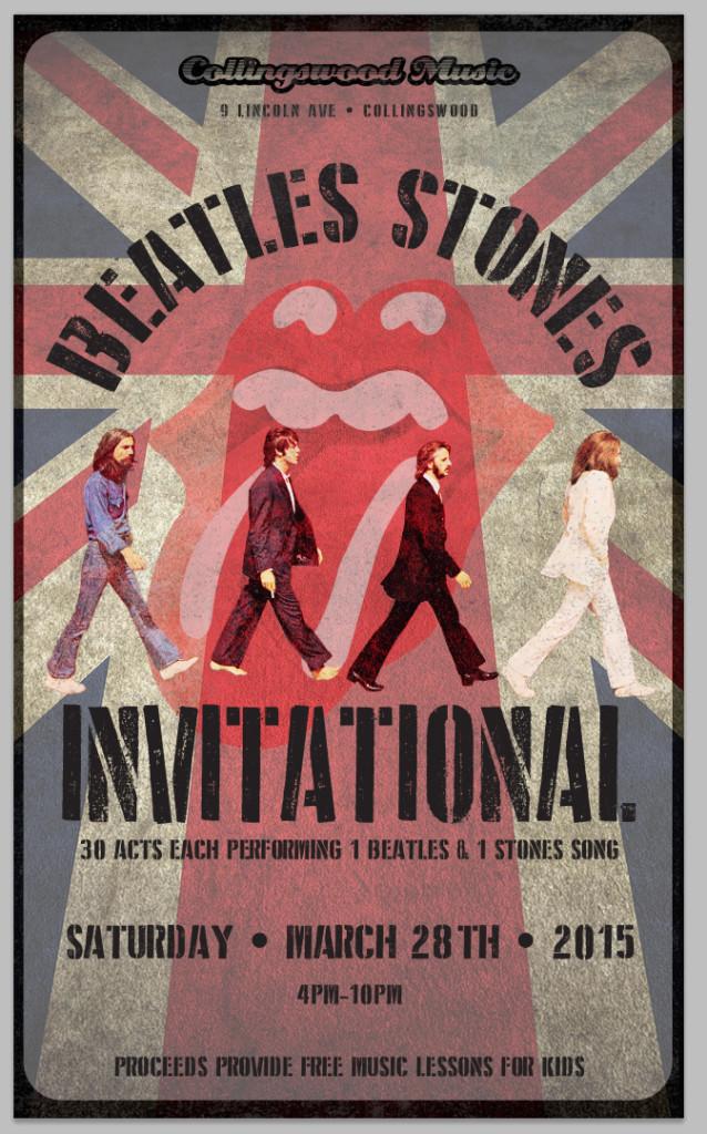 Beatles Stones Poster. Credit: John Falco.