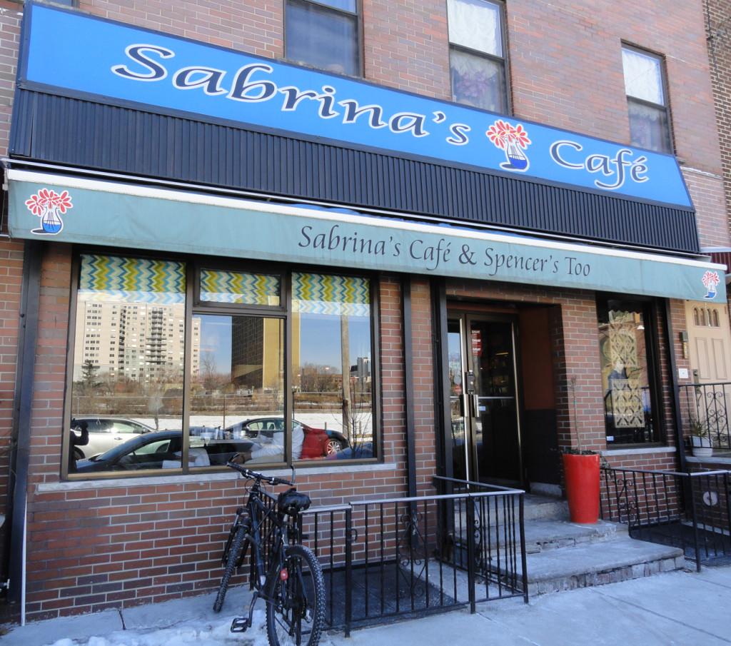Sabrina's Cafe at 19th and Callowhill. Credit: Matt Skoufalos.