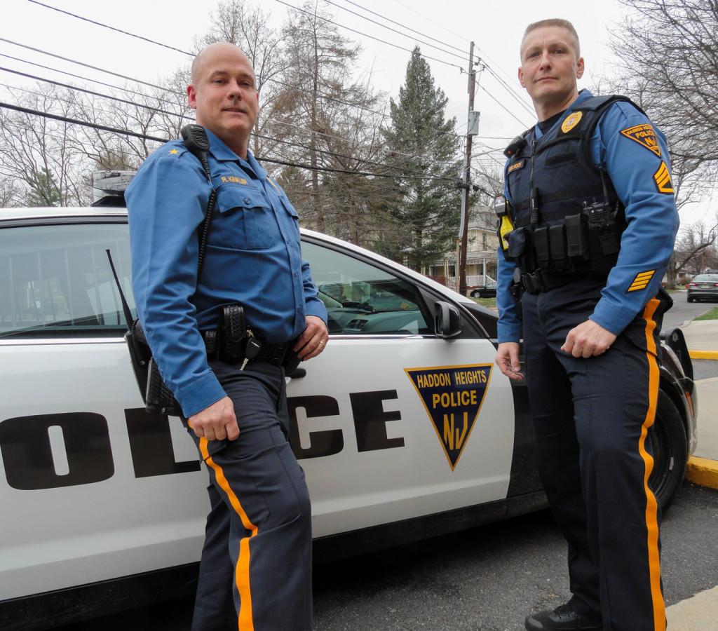 Haddon Heights Chief Kinkler (left) and Det. Sgt. Koch. Credit: Matt Skoufalos.