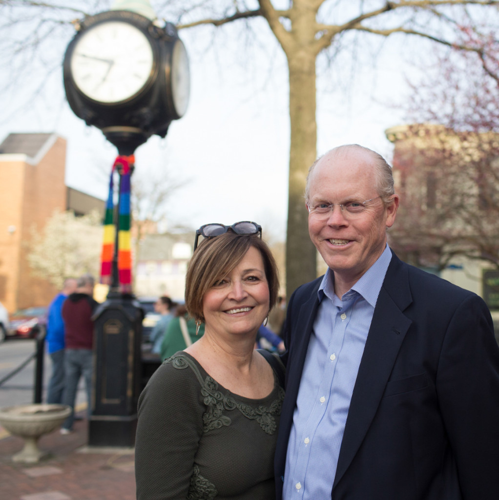 Collingswood Mayor James Maley and his wife, Mary Kay. Credit: Tricia Burrough.