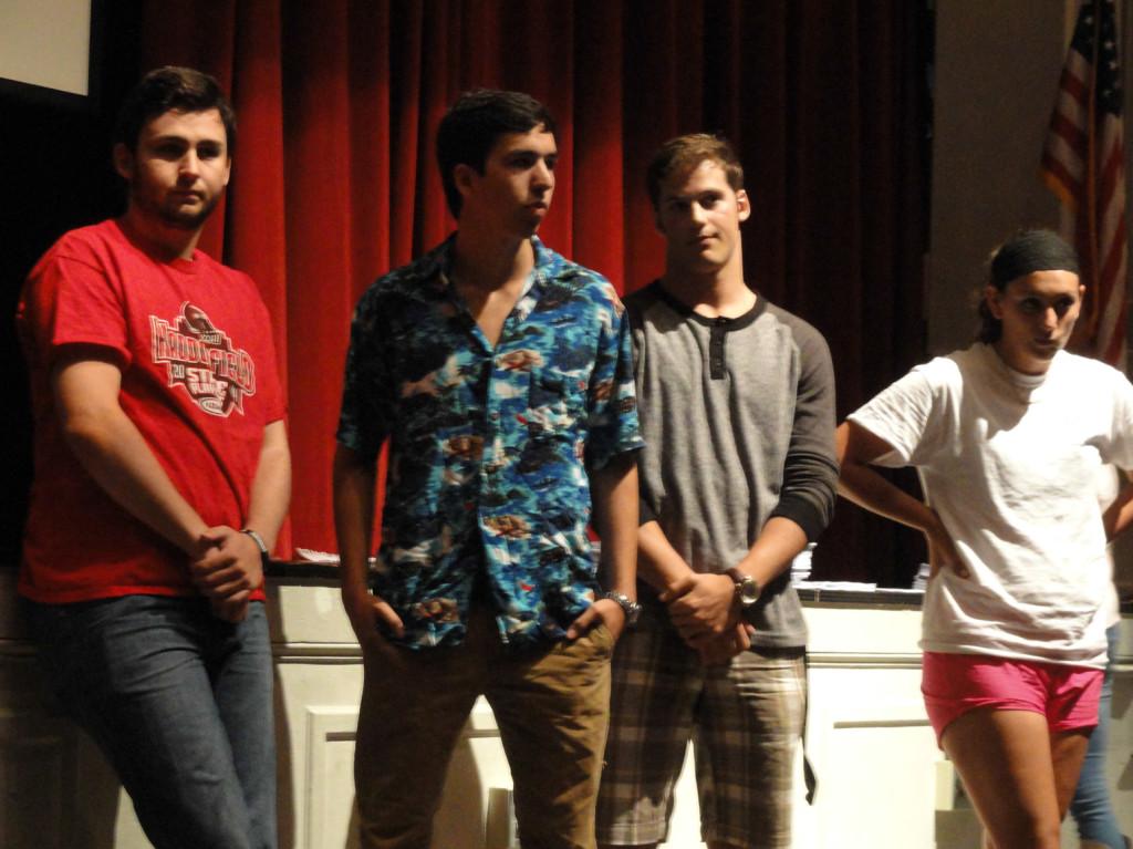 Haddonfield students speak up at the RCA presentation. Credit: Matt Skoufalos.