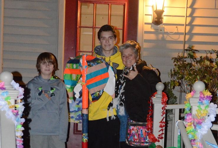 Chase Ricci, Colin Hough, and Tracey Ricci in Dec. 2013. Credit: Tracey Ricci.