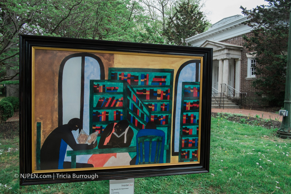 "Jacob Lawrence, ""The Libraries Are Appreciated"" at Haddonfield Library. Credit: Tricia Burrough."