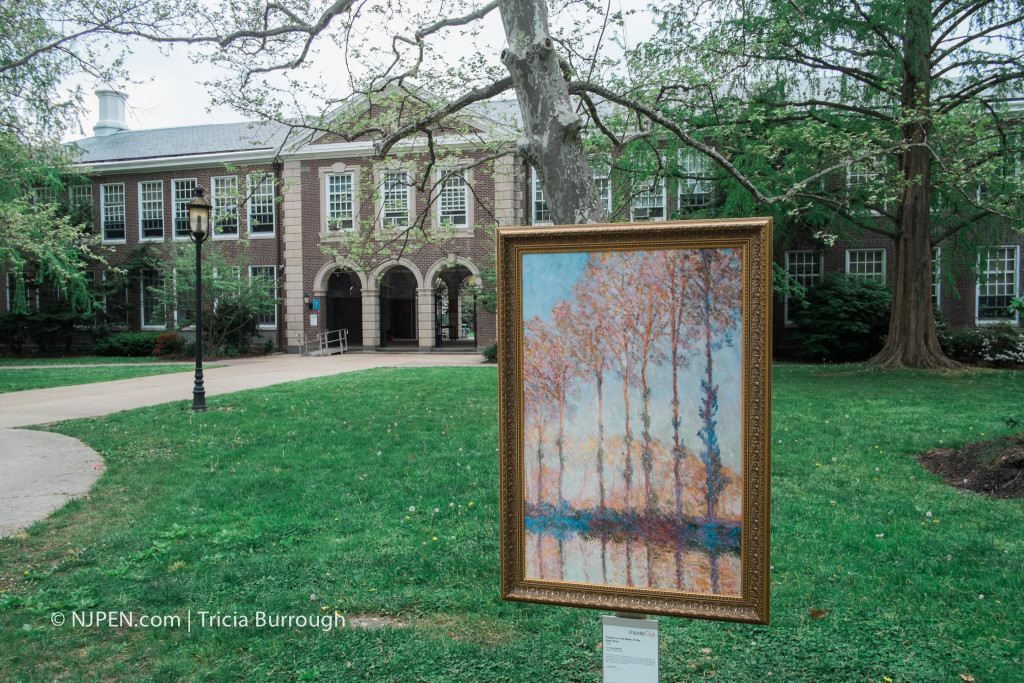 "Pop-up art exhibition feat. Monet's ""Poplars on the Bank of the Epte River"" at HMHS. Credit: Tricia Burrough."