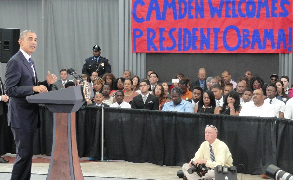 Barack Obama in Camden. Credit: Matt Skoufalos.