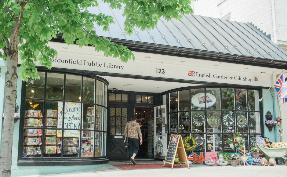The pop-up Haddonfield Library Annex. Credit: Tricia Burrough.