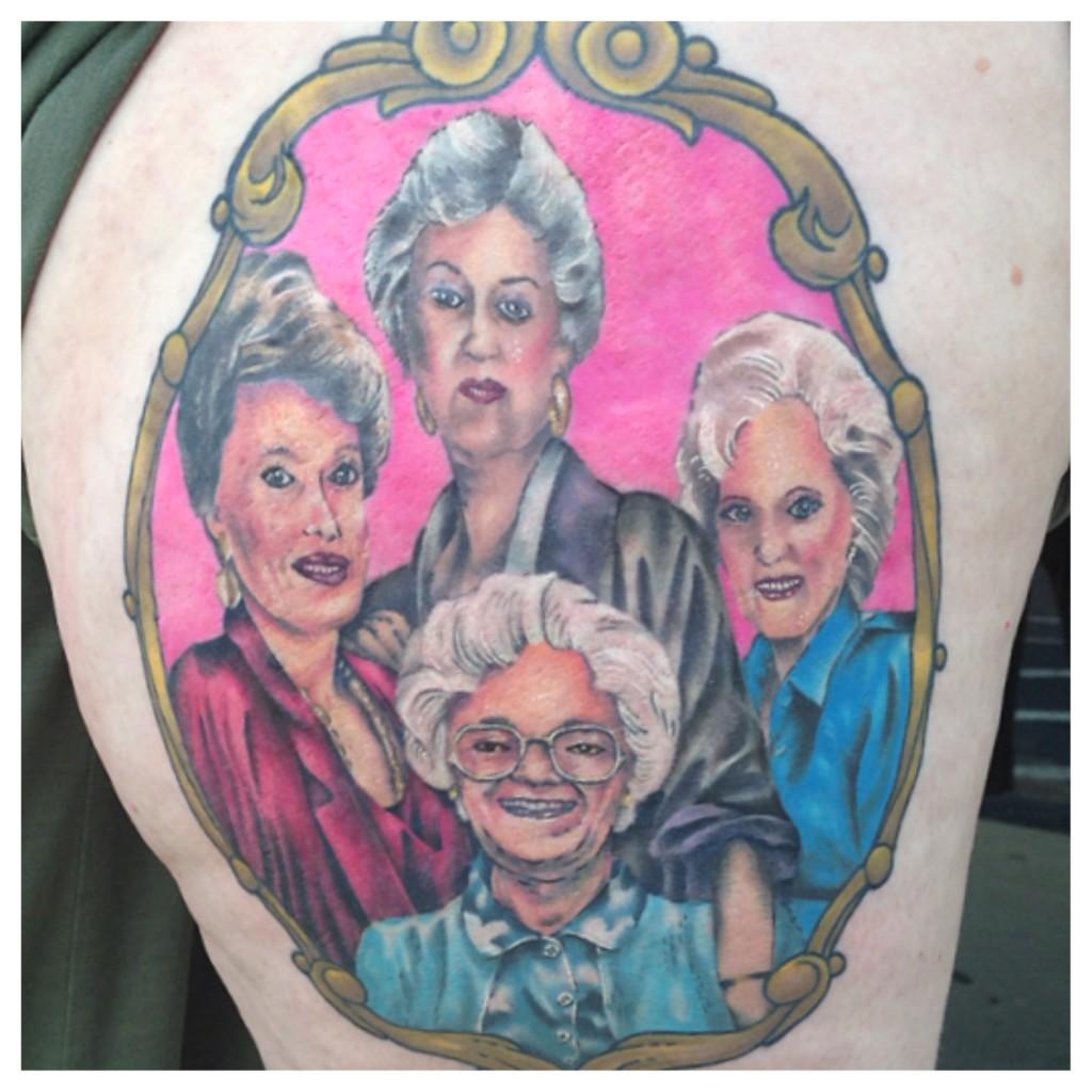 Golden Girls tattoo. Credit: Jeff Miller.