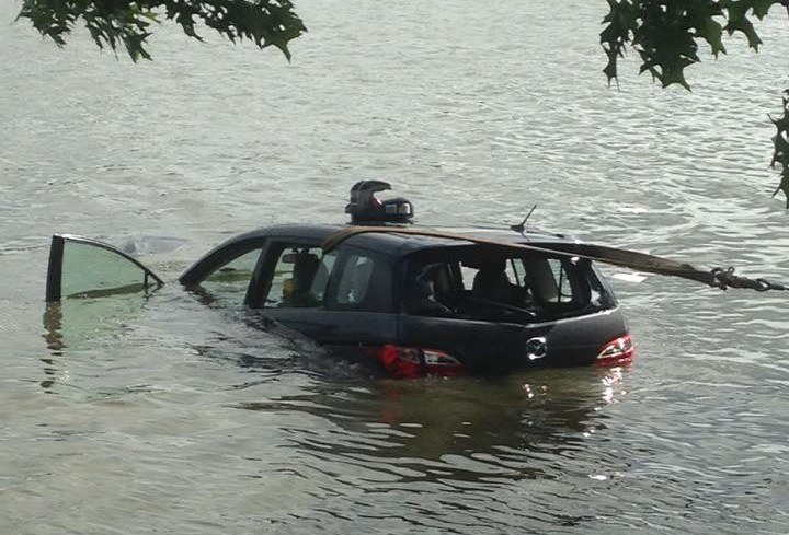 Submerged car. Credit: Angelo and Jacqueline Lother.