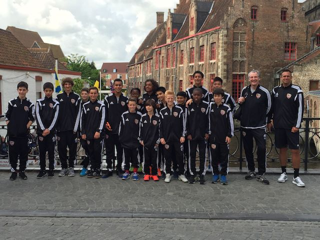 Next Gen USA u-13 squad in Belgium. Credit: Next Gen USA.