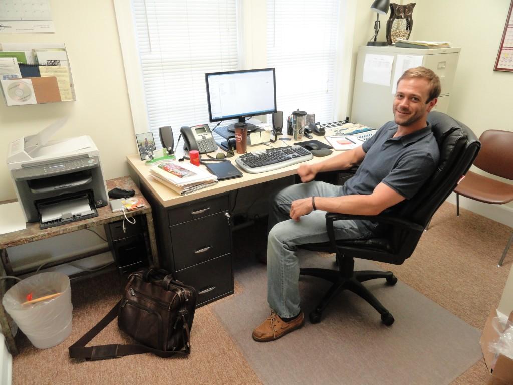 Buganski in his VSJ office. Credit: Matt Skoufalos.