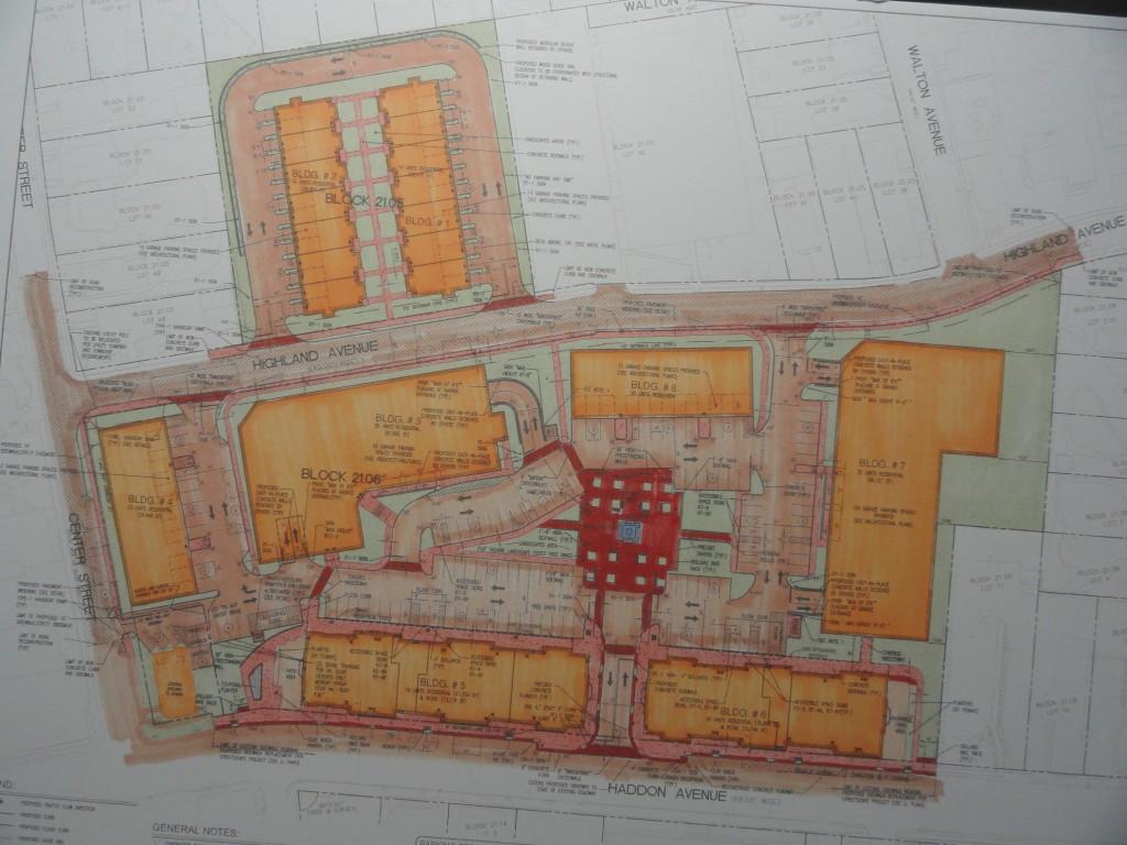 Original Haddon Town Center plan. Credit: Matt Skoufalos.