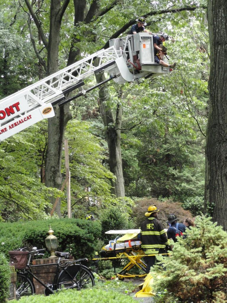 Loucroft Rd. rescue. Credit: Matt Skoufalos.