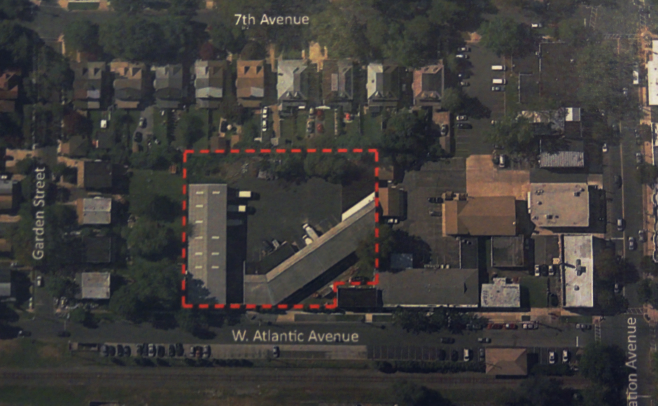 Aerial map of the Atlantic Avenue warehouse space. Credit: Buckingham Partners.