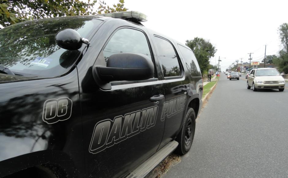 Oaklyn Police Vehicle. Credit: Matt Skoufalos.