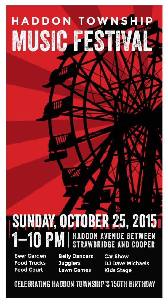 Haddon Twp. Music Festival poster.