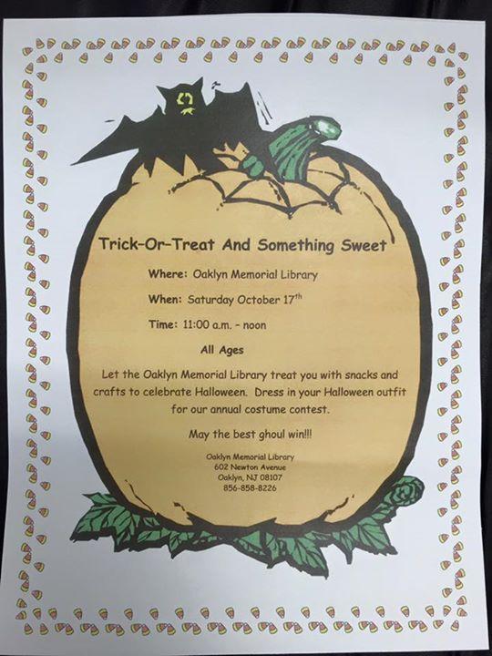 Oaklyn Halloween Poster