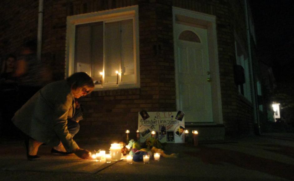 Brendan Creato Vigil in Haddon Twp. Credit: Matt Skoufalos.