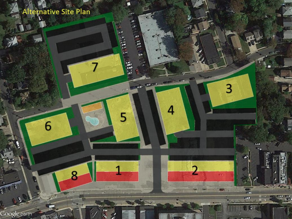 Proposed changes to Fieldstone site plan.