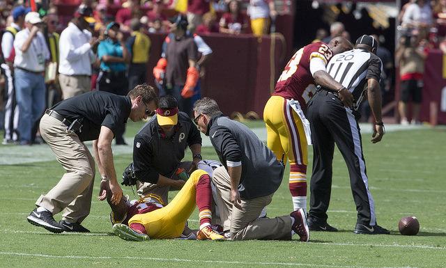 Deseaon Jackson injury, Credit: Keith Allison: https://goo.gl/2OzIRZ.