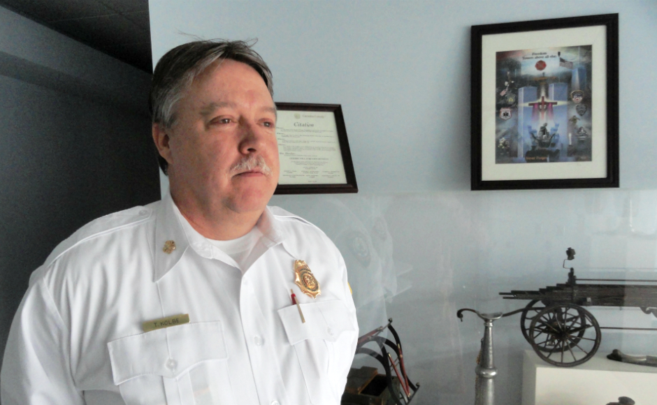 Fire Chief Thomas Kolbe. Credit: Matt Skoufalos.