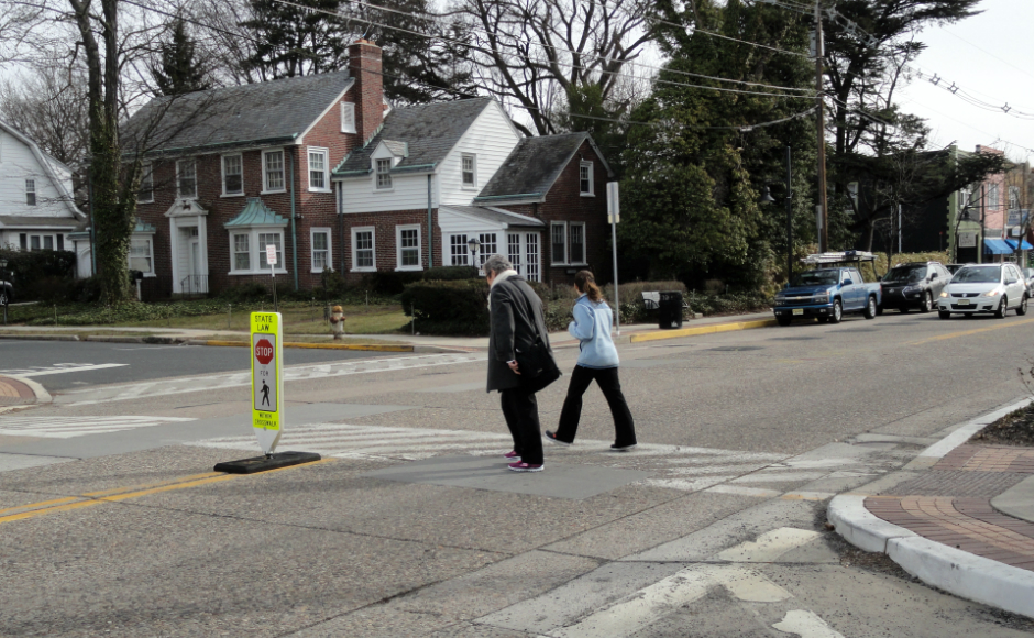 Strawbridge Ave Crosswalk. Credit: Matt Skoufalos.
