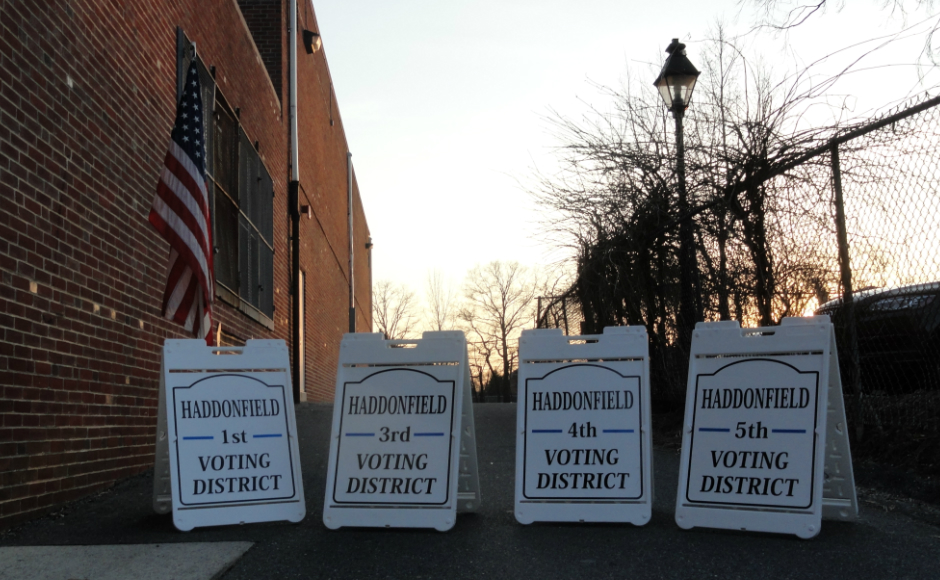 Haddonfield Polling Places. Credit: Matt Skoufalos.
