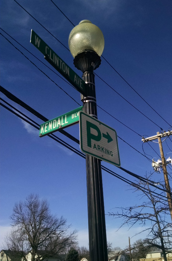 Kendall Blvd. signpost.  Credit: Matt Skoufalos