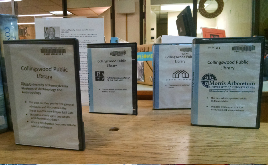 Museum passes available to members of the Collingswood Public Library. Credit: Matt Skoufalos.