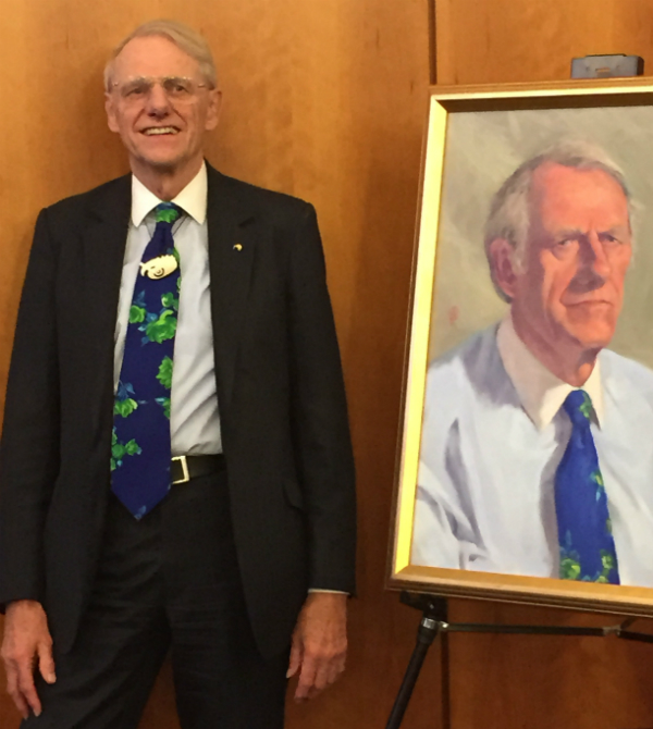Clark's portrait at the NZ embassy. Credit: Amy Boss.