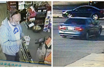 Surveillance footage of a man police identified as Brian M. Ayers of Roebling. Credit: Cherry Hill Police.