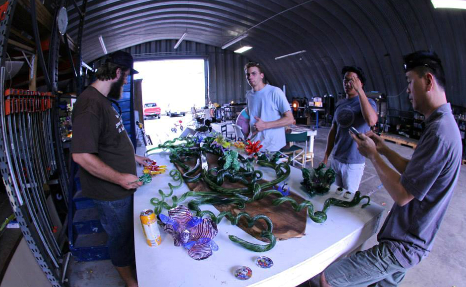 The Glass Arts Association of Hawaii, which Clark established, is in transition. Credit: Ted Clark.