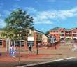 Rendering of the Merchantville pedestrian street redevelopment design concept. Credit Ragan Group.