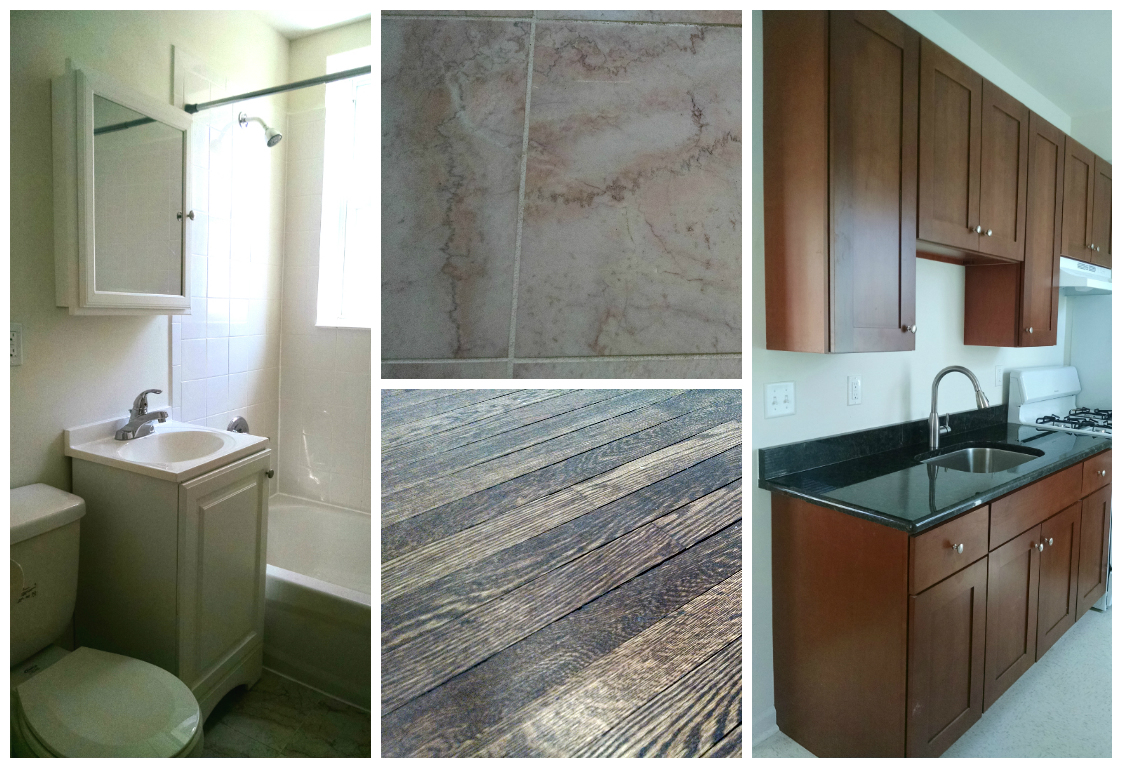 Amenities At The Oaklyn Villas Include Marble Tile Bathrooms Hardwood Flooring And Refinished Bathrooms