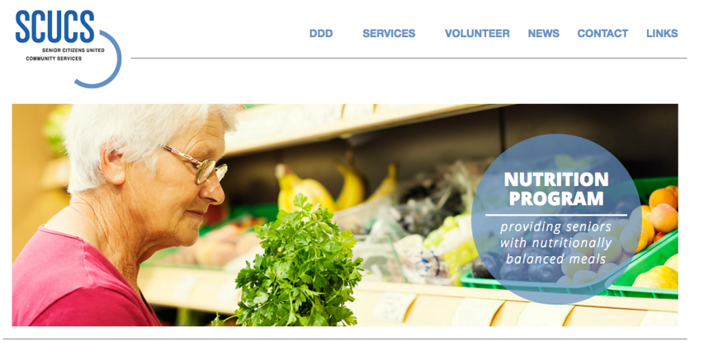Senior Citizens United Community Services website. Credit: SCUCS.