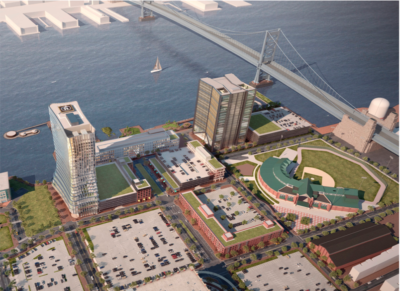 Aerial rendering of redevelopment area. Credit: Liberty Property Trust.