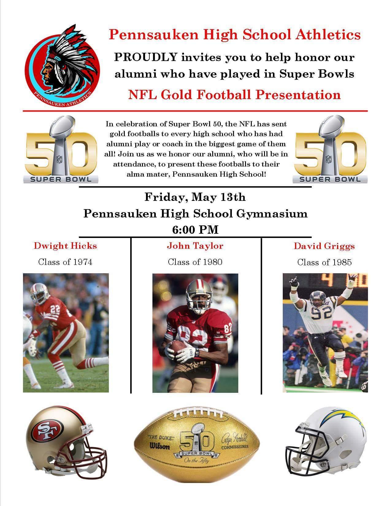 Pennsauken High NFL Gold Football Presentation and Alumni Celebration