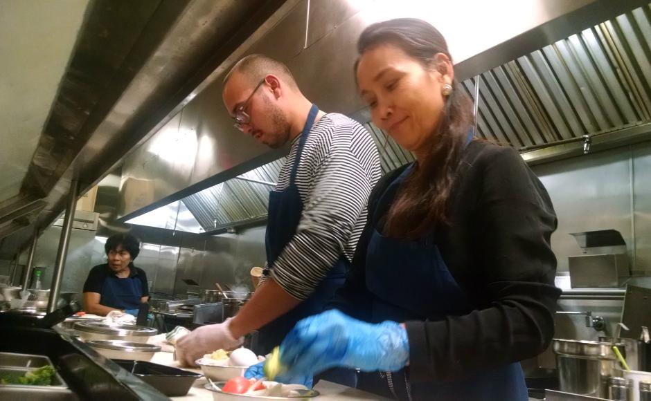 Justin and Nalatta Furstoss share the cooking duties at Sanook Thai. Credit: Matt Skoufalos.