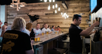Devil's Creek Brewery launched Thursday with a party for its crowdfunding contributors. Credit: Tricia Burrough.