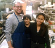 Justin, Na' Ran, and Nalatta Furstoss in the kitchen at Sanook Thai. Credit: Matt Skoufalos.