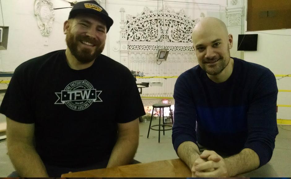 The Factory owner Tom Marchetty (left) and Ercolani. Credit: Matt Skoufalos.
