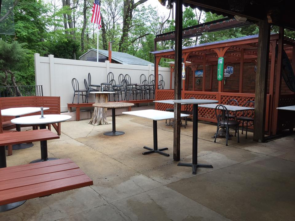 The patio at the Oaklyn Manor Bar mid-transition. Credit: Oaklyn Manor Bar.