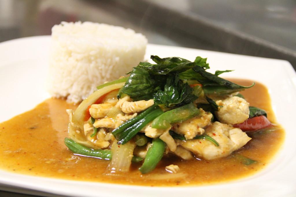 Padd Grapow dish at Sanook Thai. Credit: Justin Furstoss.