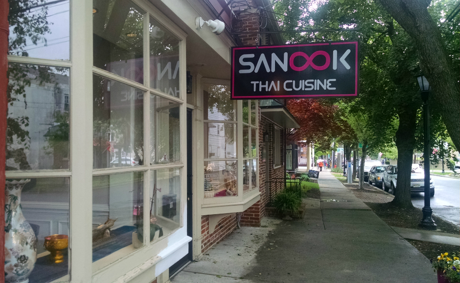 Sanook Thai restaurant, Haddonfield. Credit: Matt Skoufalos.