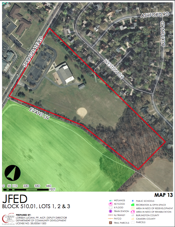 Senior and Supprtive Housing Overlay for Springdale Rd. Credit: Cherry Hill Twp.
