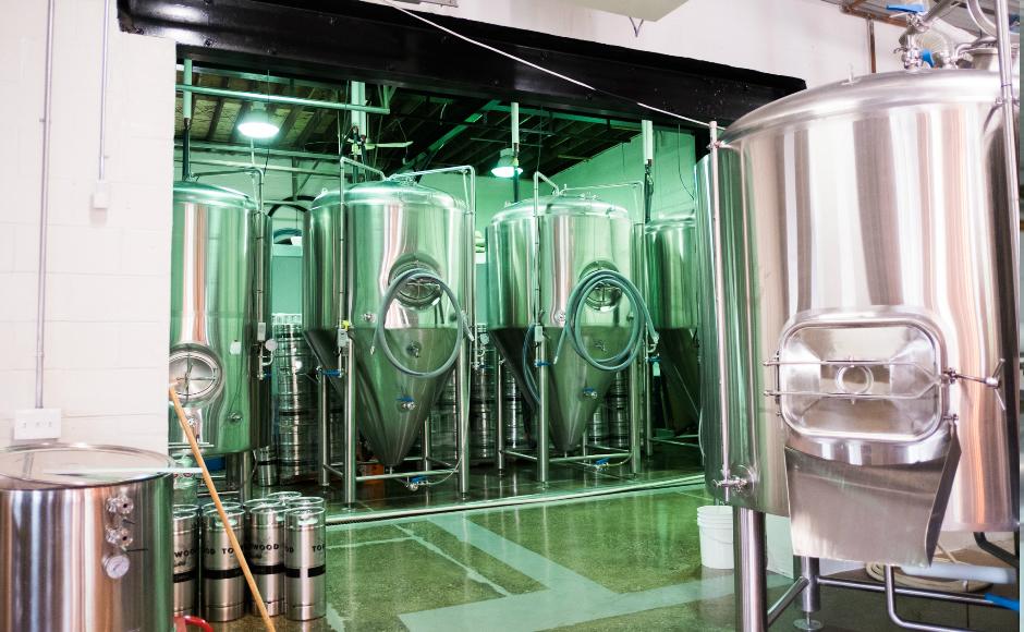 Tonewood Brewery Tanks. Credit: Tricia Burrough.